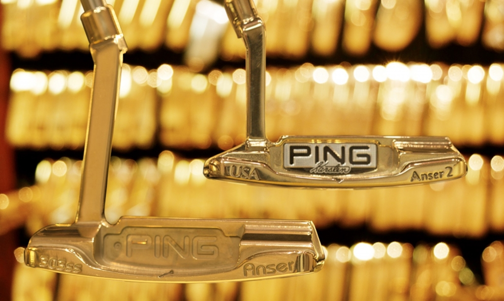 PING Anser gold plated putters