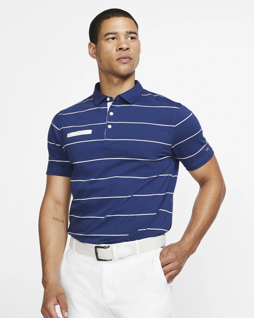 Nike Dri Fit Player striped shirt