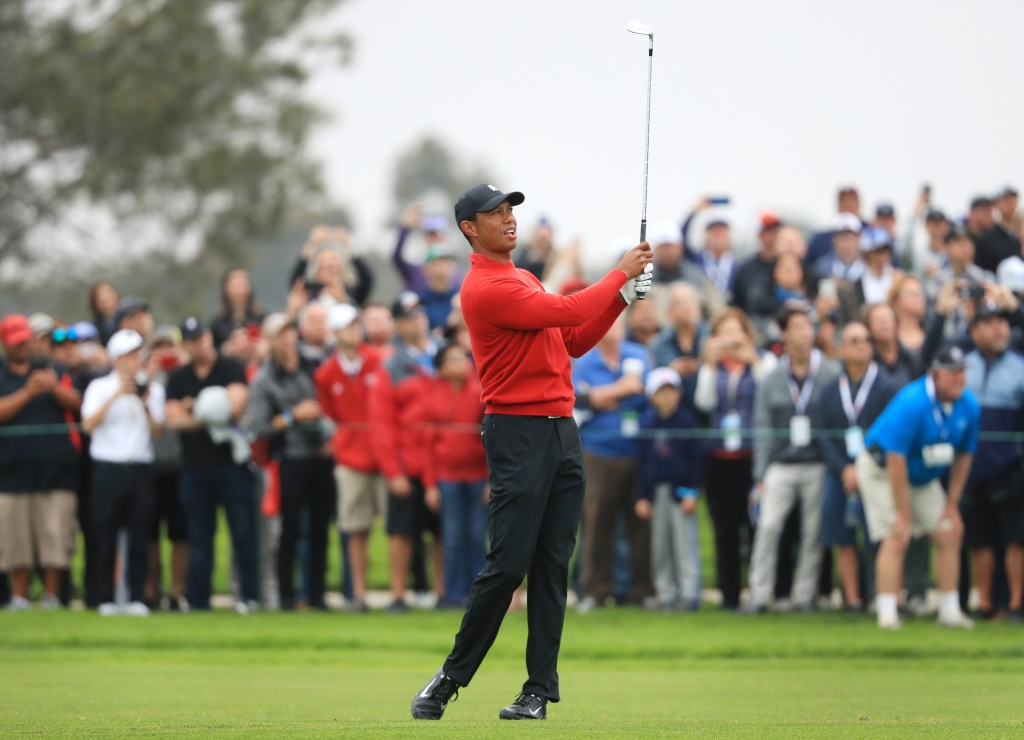 Tiger Woods wearing TW20 golf shoes