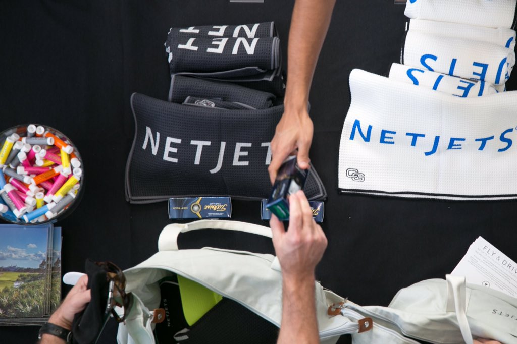 NetJets golf towels