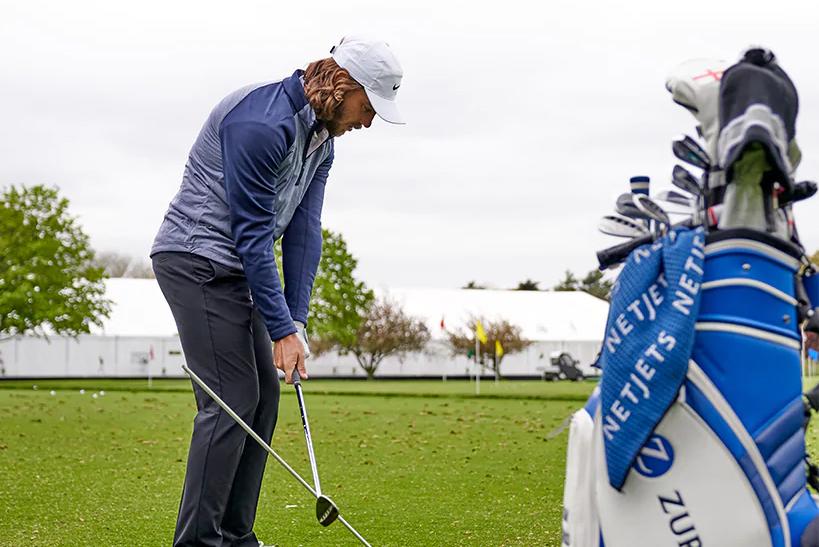 Tommy Fleetwood NetJets golf towels